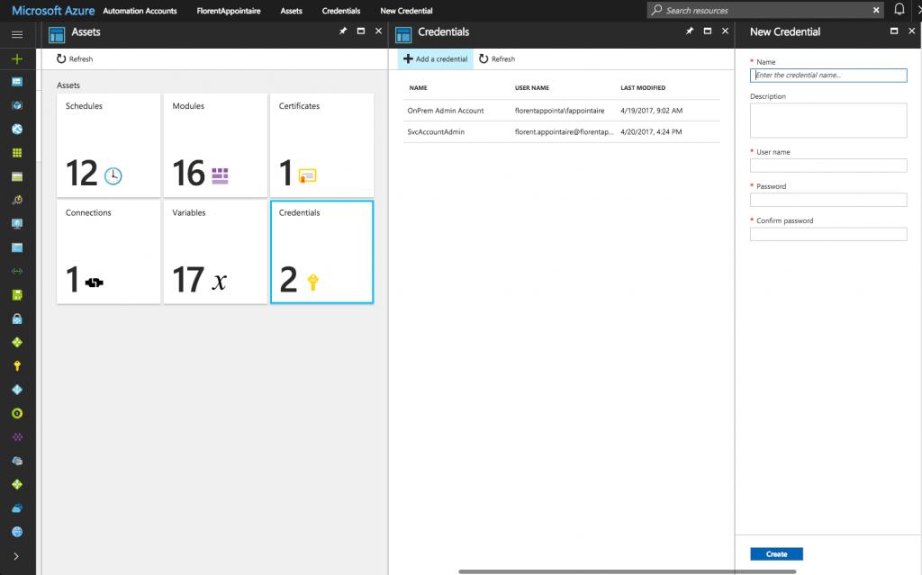 Microsoft Azure Assets Credentials