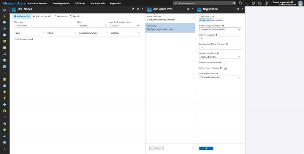 Azure DSC Nodes Add Azure VM