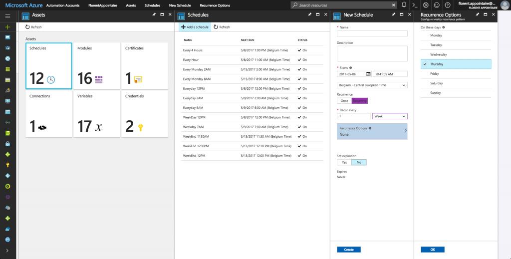 Microsoft Azure Assets Schedules