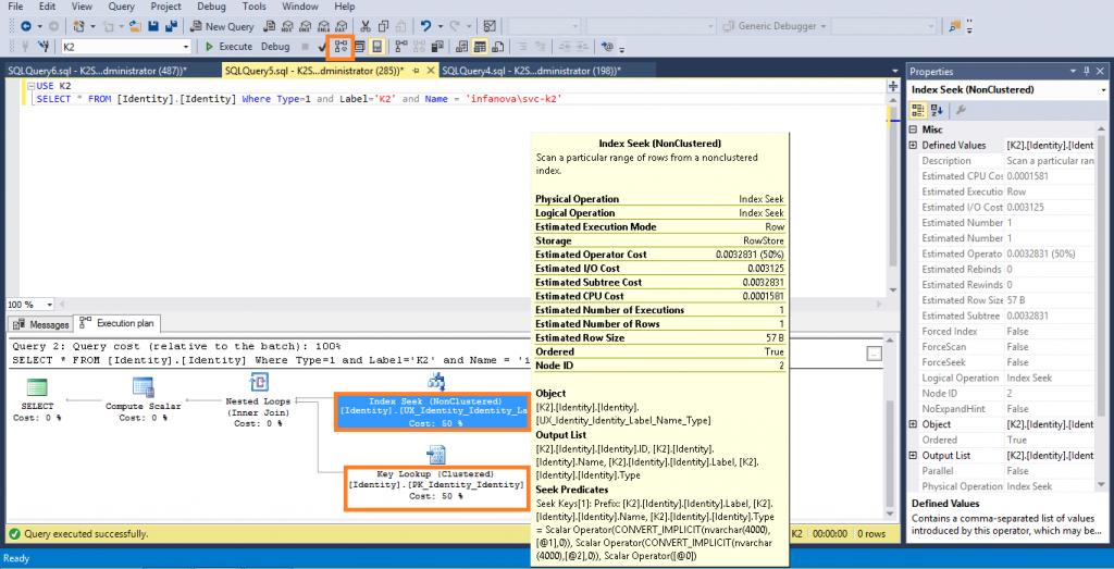 SQL Server Management Studio view
