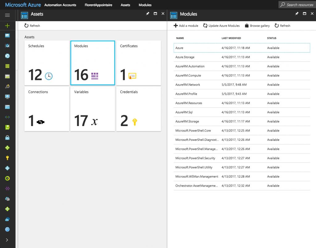 Microsoft Azure Assets Modules