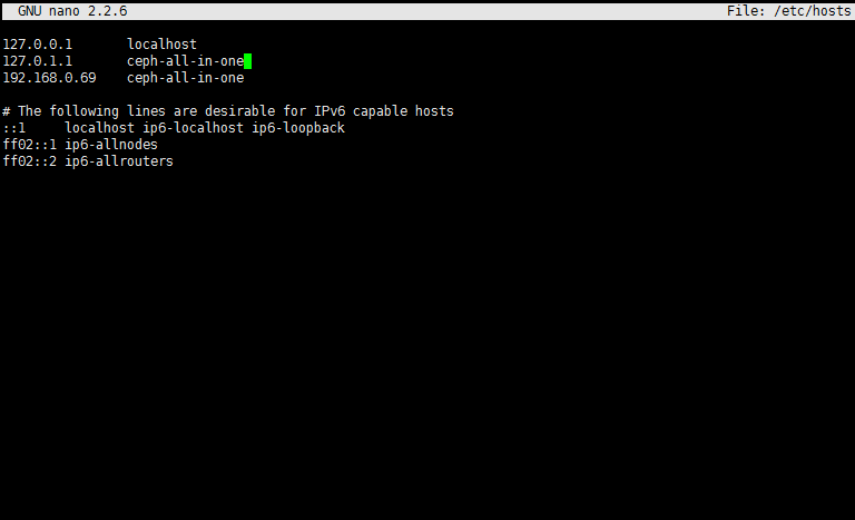 add host ip and a hostname to etc hosts