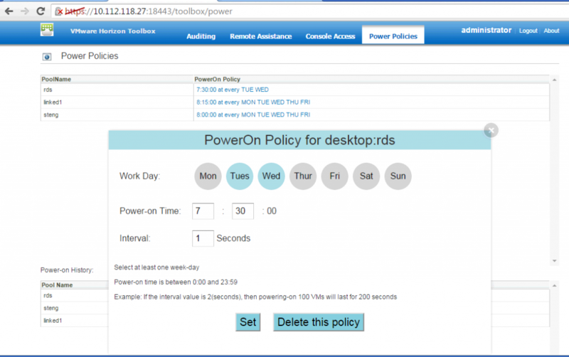 Horizon Toolbox Power Policy