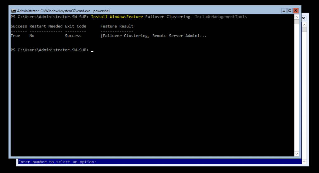 install the Failover Cluster with PowerShell