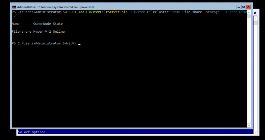 PowerShell Cluster File Server Role cmdlt