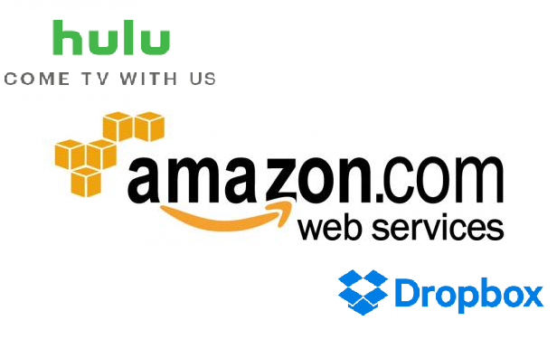 Hulu and AWS logo