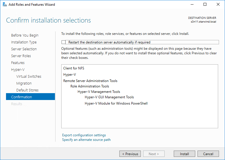 Hyper-V VMs on an NFS share on Windows Server 2016 – is that real