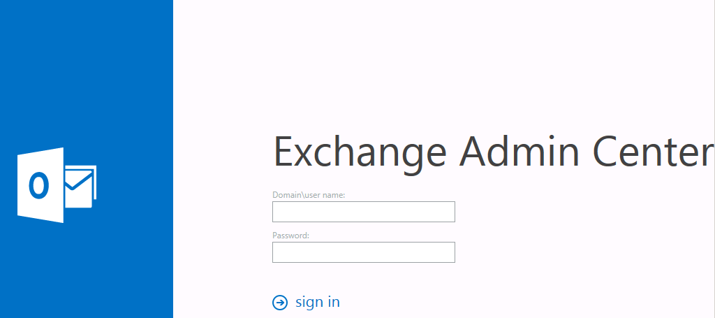 Exchange Server Admin Center