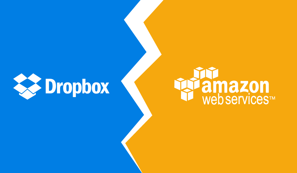 Dropbox and AWS logos