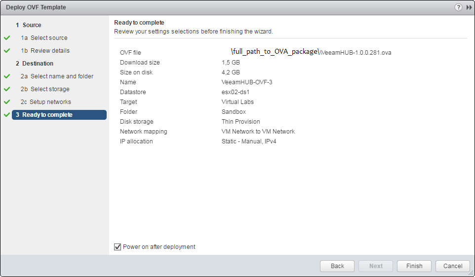Veeam PN Appliance module as an OVA file