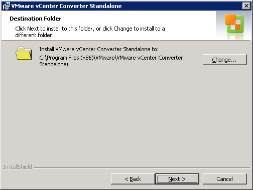 VMware vCenter Converter Standalone destination folder