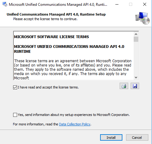 Microsoft Unified Communications Managed API 4.0 Runtime view