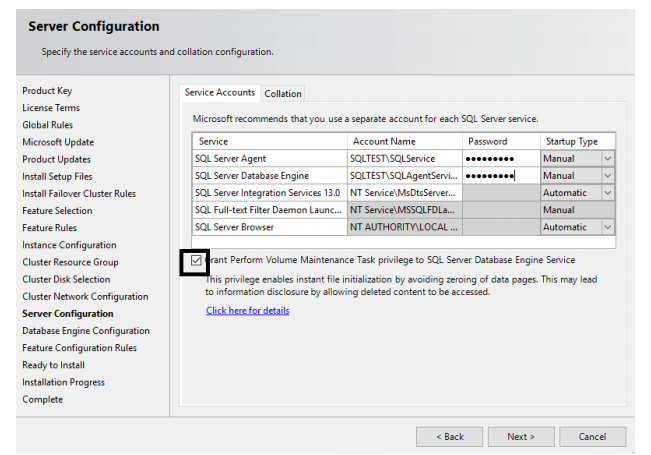SQL Server Failover Cluster Server configuration