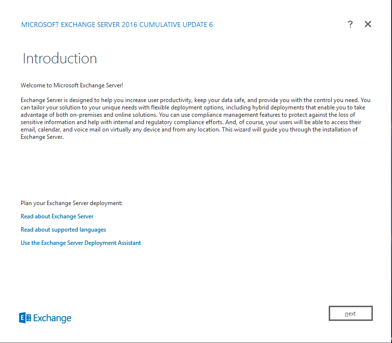 Exchange Server 2016 Cumulative Update 6 introduction