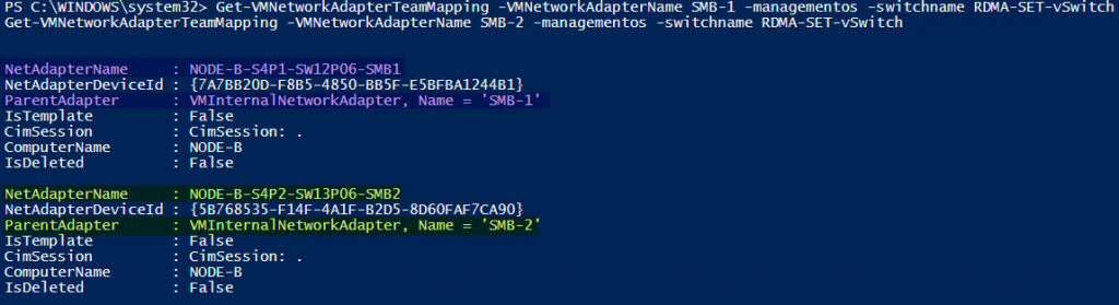 check the mappings powershell command