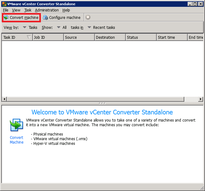 VMware vCenter Converter Standalone convert machine