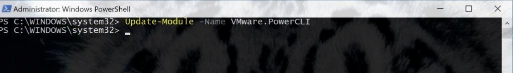 Update Module Name with PowerCLI