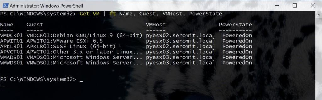 Get information from vCenter via PowerCLI
