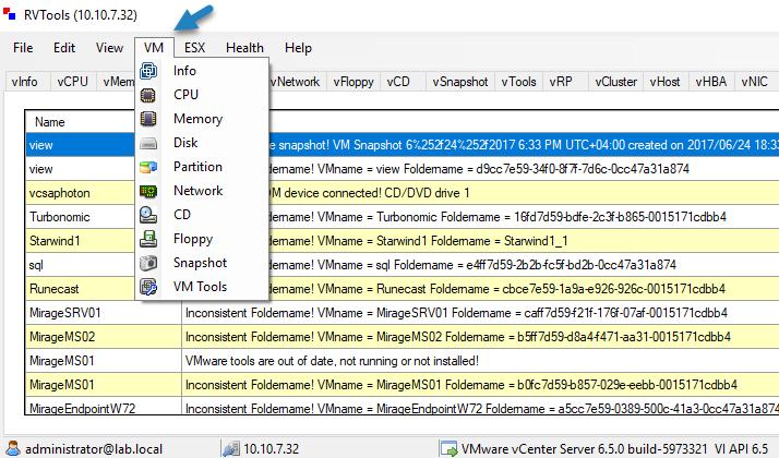 Best Freeware for VMware vSphere – RVTools | StarWind Blog