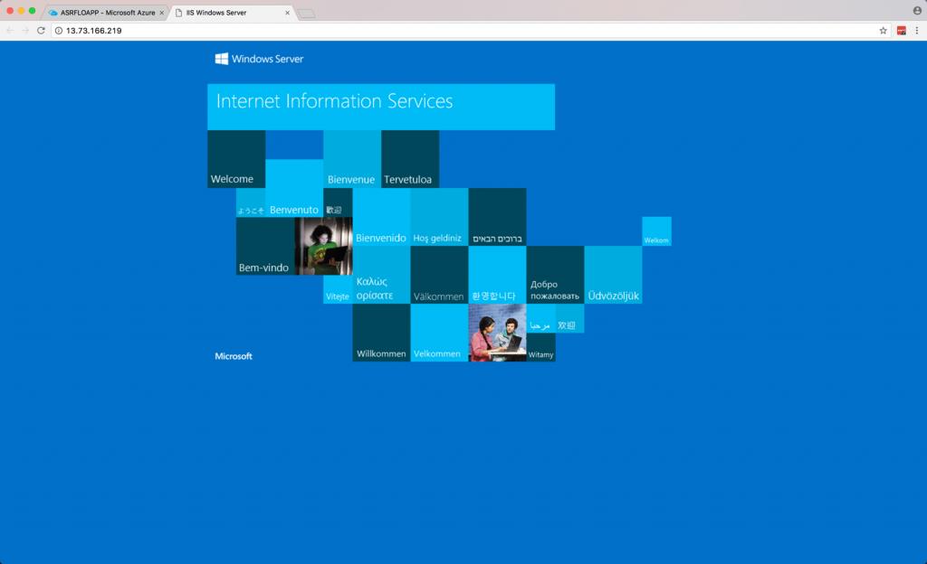 IIS Windows Server view