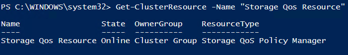 cluster Storage QoS Resource via PowerShell