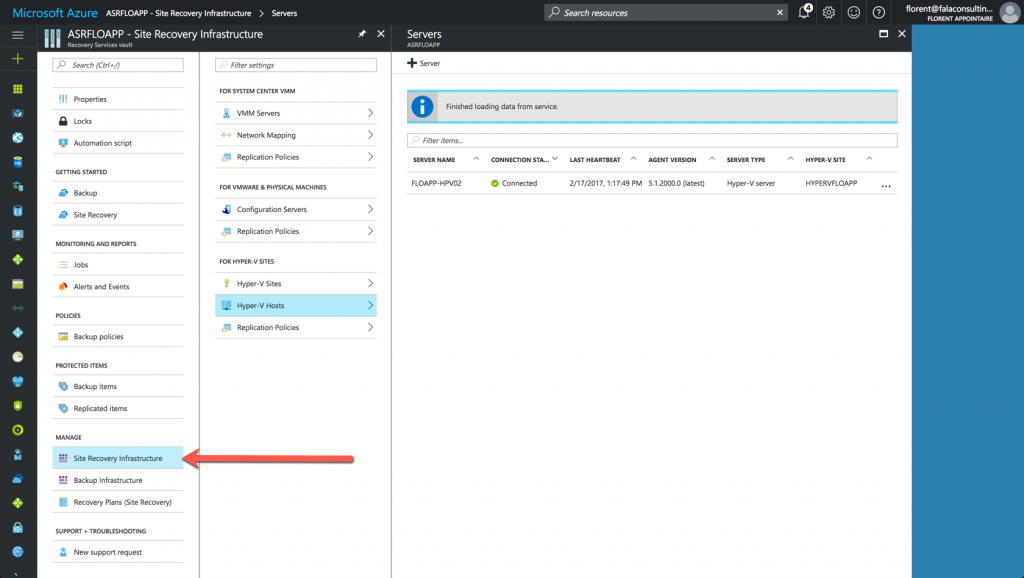 manage Azure Site Recovery Infrastructure