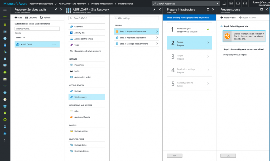 Create Hyper-V site in Microsoft Azure Resource Manager