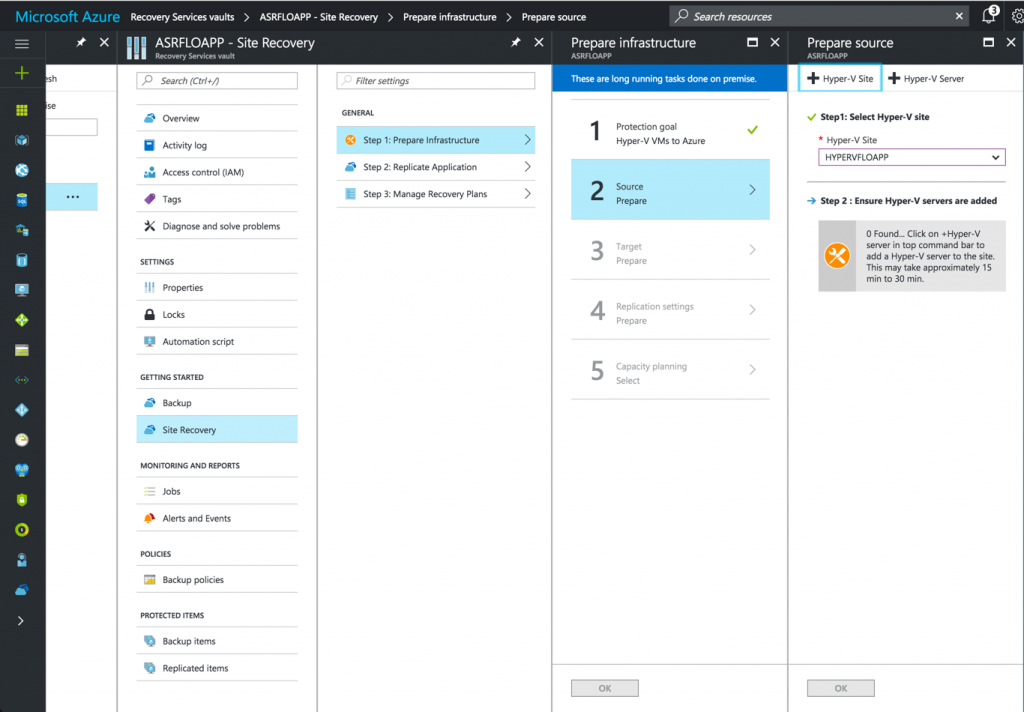 deploy the agent on the Hyper-V server to replicate VM to Azure