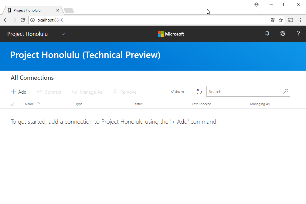 Project Honolulu GUI