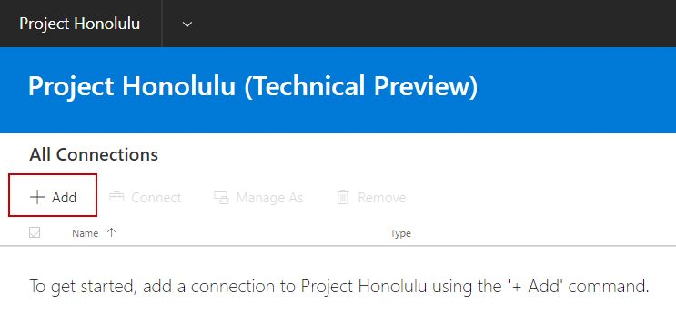 Honolulu console add a managed server
