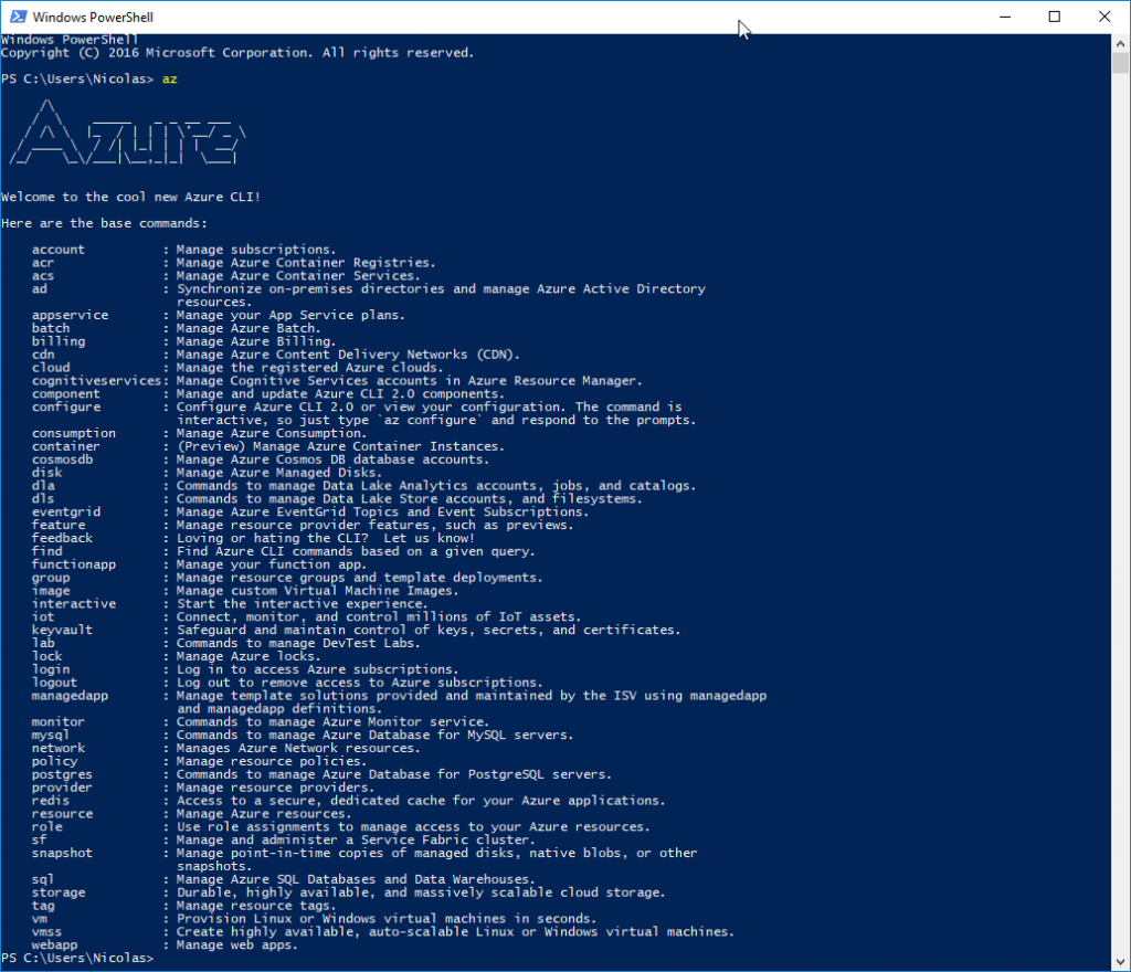 Azure CLI installation confirmation via PowerShell