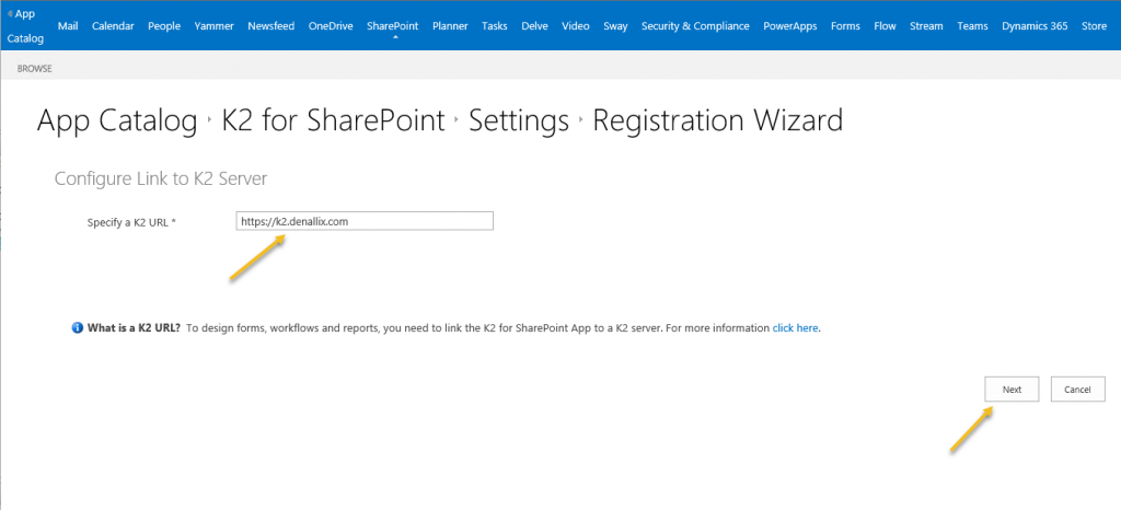 SharePoint App Catalog Registration Wizzard