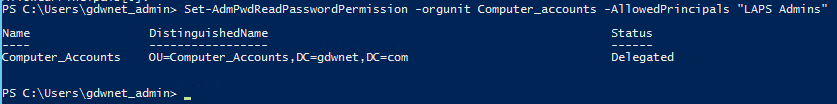 Set Admin Read Password Permission with Powershell