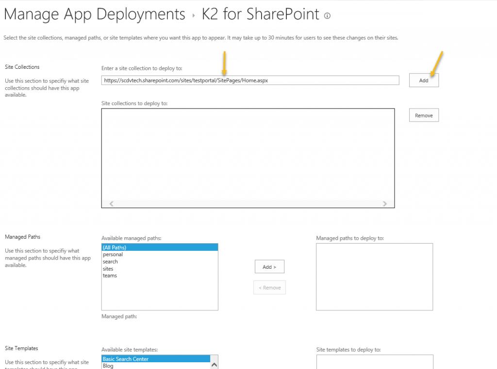 SharePoint App Deployments Management