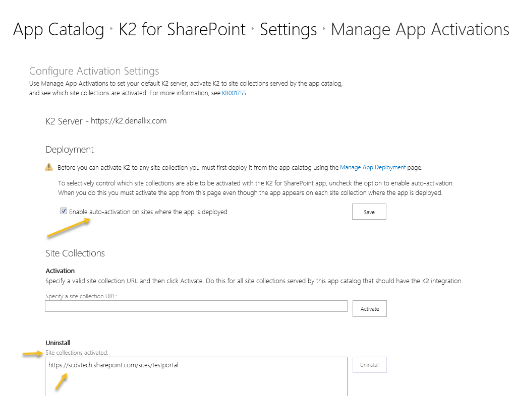 SharePoint Manage Sharepoint app activations