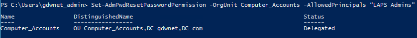 Set Admin Reset Password Permission via PowerShell