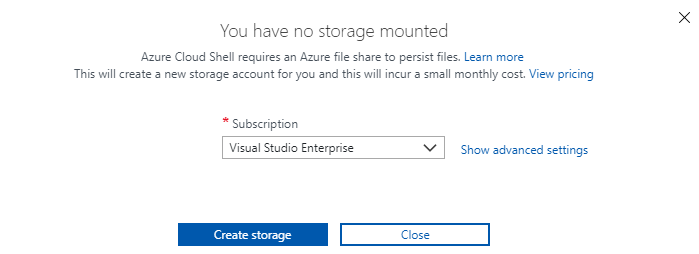 create a storage account