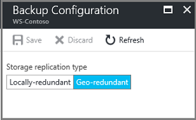 Locally-redundant storage replication type