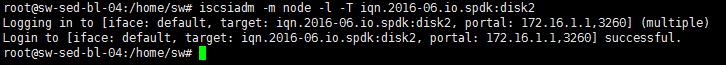 connect SPDK iSCSI target