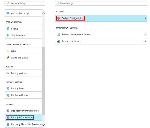 Backup Configuration information