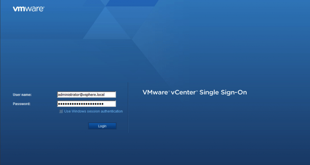 vCenter Single Sign-On