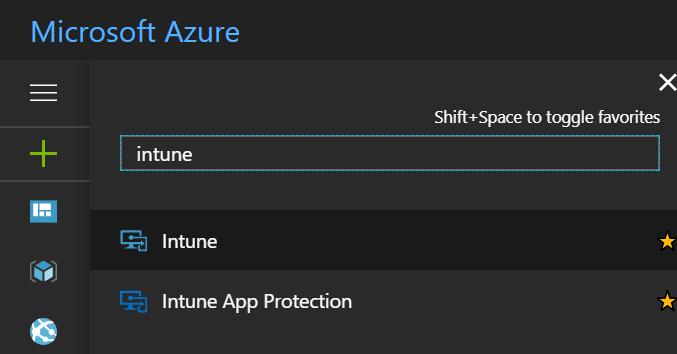 Azure console