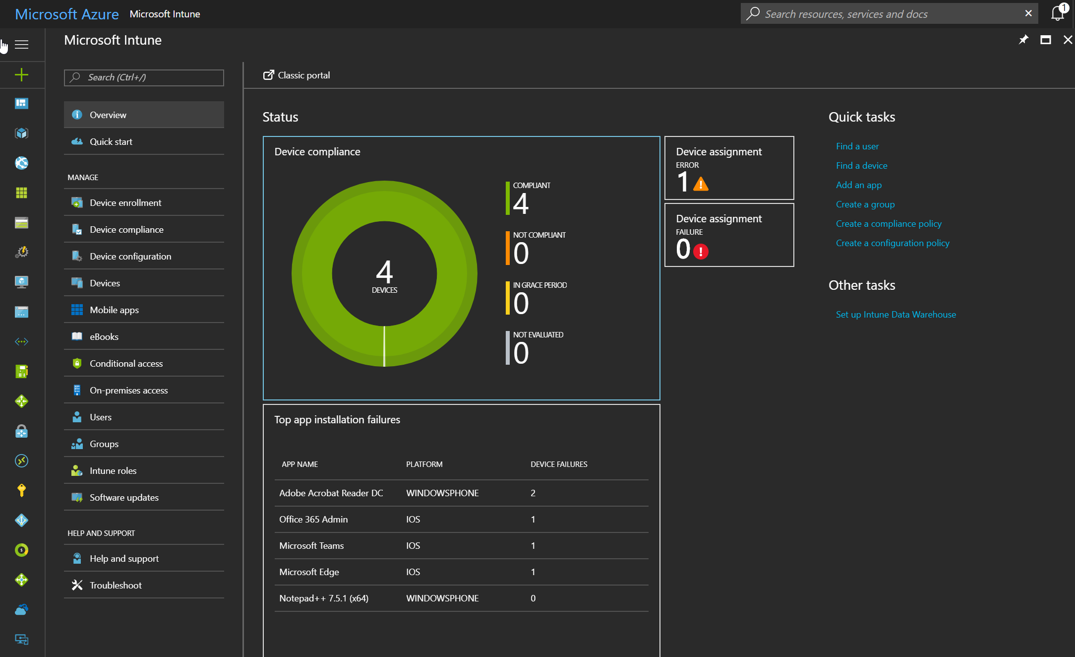 Start configuring Intune in the new Azure Portal | StarWind Blog