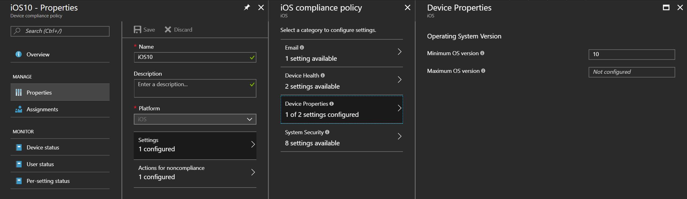 iOS 10 device properties