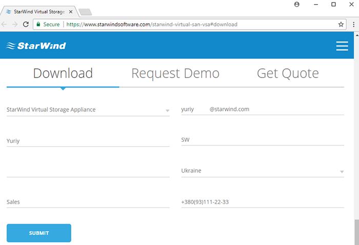 Download StarWind Virtual Storage Appliance