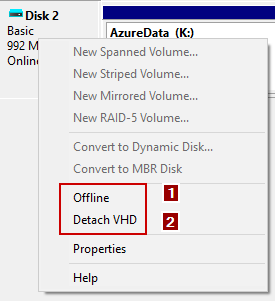 import VHDX to Azure