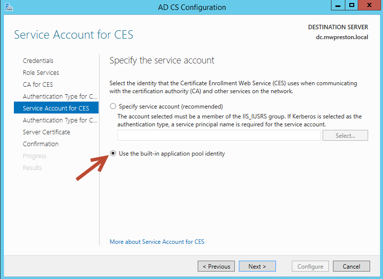 Using the Microsoft Certificate Authority to get rid of