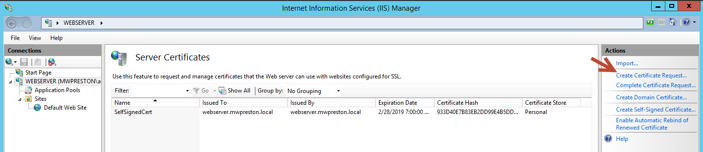 Using the Microsoft Certificate Authority to get rid of those self