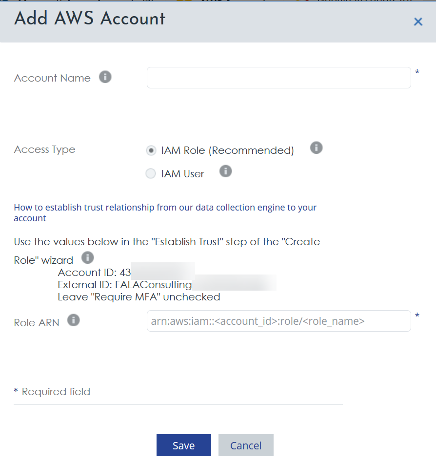 Cloudyn - AWS Account ID and the External ID