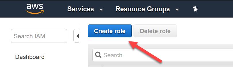 AWS console - Create role